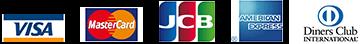 焼肉りんごで使用可能なクレジットカードの一覧 VISA MasterCard JCB アメリカンエキスプレス DinerClub UnionPay